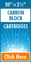 Carbon Block Standard Size Cartridges 30x2½