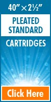 Pleated Standard Size Cartridges 40x2½